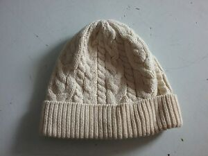 Baby Boy Girl Baby Gap Cable Knit Winter Hat Ivory Cotton 0-6M  e3d5bfc154c