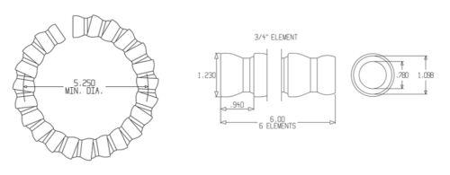 """of Blue 3//4/"""" Loc-Line® USA Original Modular Hose System #69540 54 Segments 25/'"""