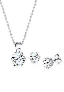 Elli Schmuckset Basic Swarovski Kristall 925 Silber