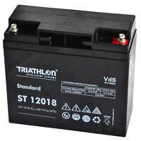 Triathlon AGM 12 Volt 5-Jahres Batterie 18AH Zyklenfest, Wartungsfrei, 12V-Akku