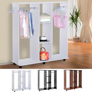 HOMCOM Armoire Penderie Dressing de Rangement Vêtements Mobile 120 x 40 x 128 cm