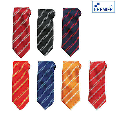 Premier Quattro Cravatta A Righe (pr762) - Business Formale Work Wear Cravatta-mostra Il Titolo Originale A Tutti I Costi
