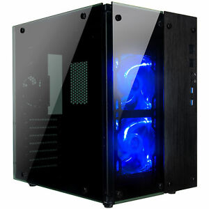 Rosewill-Gaming-Cube-Computer-PC-Case-ATX-Mid-Tower-Blue-Fans-CULLINAN-PX-BLUE