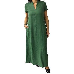 bf7eb02af713 Caricamento dell immagine in corso ASPESI-abito-donna -lungo-verde-modello-H613-100-