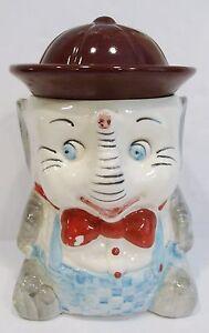 Antique elephant cookie jar ebay - Vintage elephant cookie jar ...