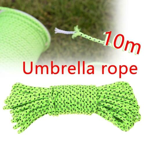 10M Green Reflective Canopy Tent Rope Guy Line Camp 2.5mm U2O4 Cord Line X2F0