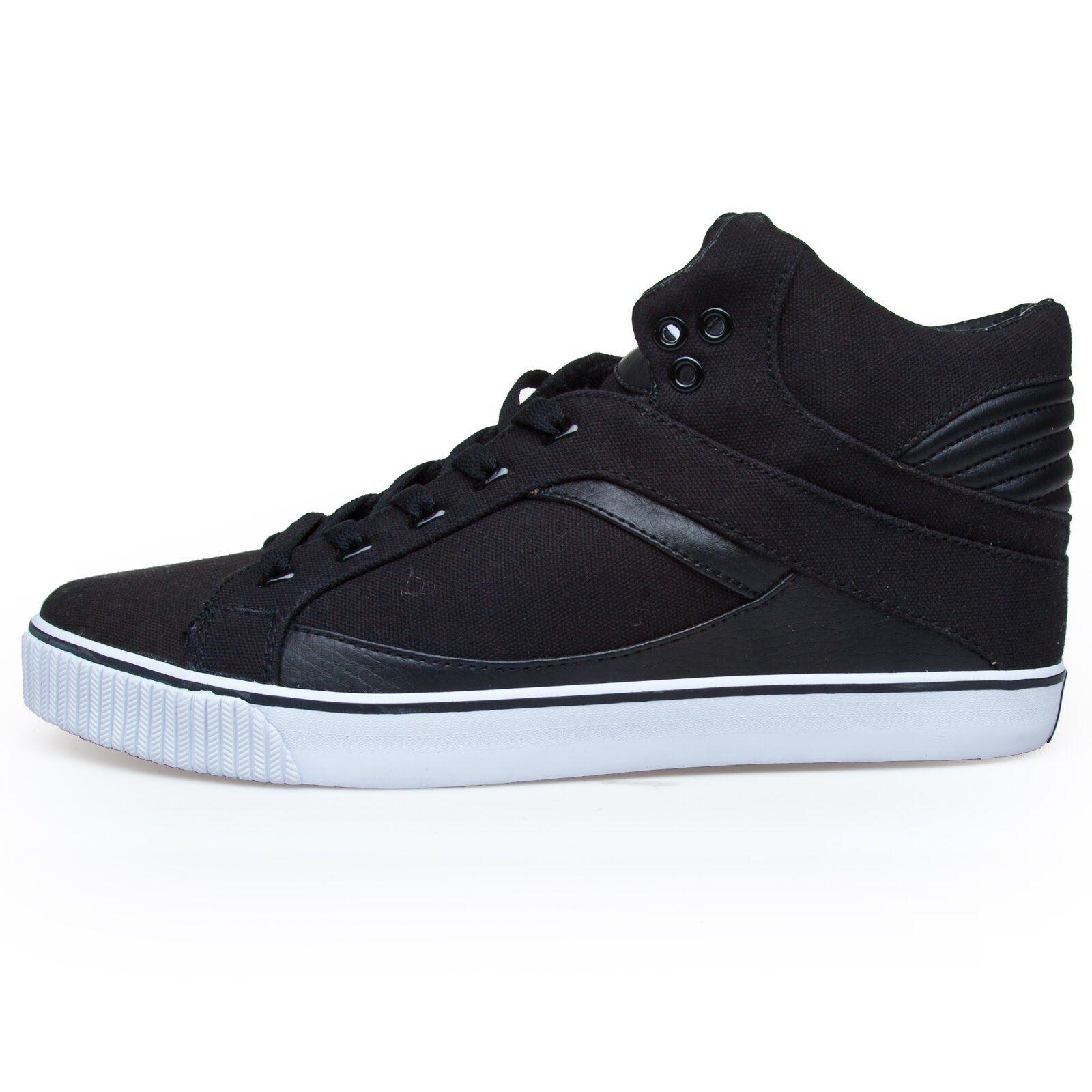 RUN ATHLETICS NYC Unisex Hi Top Sneakers Turnschuhe, EU42, Schwarz, UVP:99