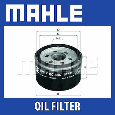 Genuine MAHLE Replacement Screw-on Engine Oil Filter OC 306 OC306