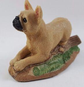 Charmstone French Bulldog Figurine Hand Painted. By Earl Sherwan 1985
