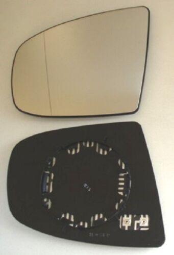 Glace polie miroir gauche bmw x5 e70 à partir de 2007 à 2013 chauffable électriquement