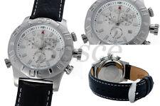 BOSCE Uhren Herrenuhr Chronograph mit Stop + Alarm Funktion, Datum
