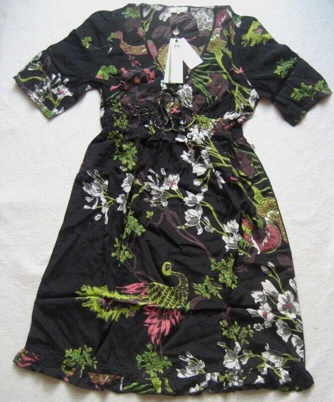 DEPT Damenkleid mit V-Ausschnitt Mehrfarbig