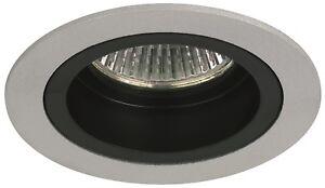 2-SPOTS-a-Encastrer-Fixe-pour-Ampoule-12V-MR16-GU5-3-Max-50W-finition-Alu-amp-Noir