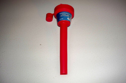 2 Flexible Spout w\Cap Funnel Shop Rubber Brake Fluid Oil Fuel Can Spill Saver