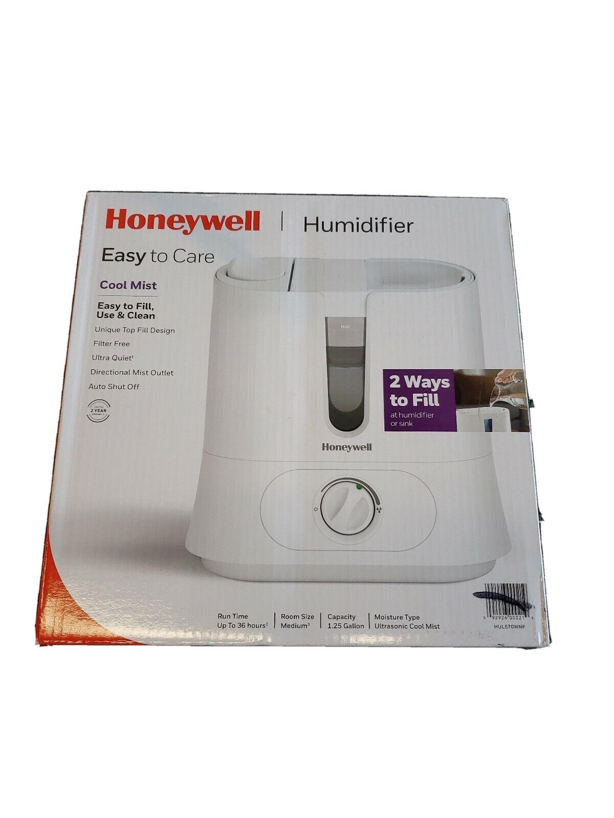 Honeywell Top Fill Cool Mist Humidifier Model HUL570WNF