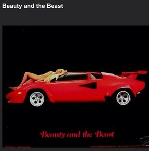 Lamborghini Countach Quot Beauty And The Beast Quot Car Poster Out