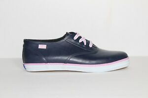 Keds-Women-039-s-Sneaker-Navy-Blue-Pink-Size-10-Casual-Comfort-Lace-Up-Shoe-WF44993