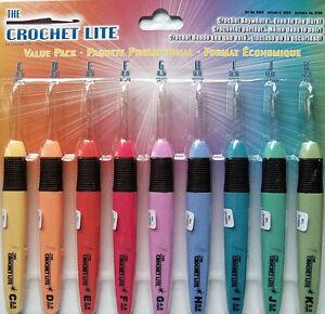 Crochet Lite Value Pack Of 9 Hooks Lighted Hooks Wbatteries