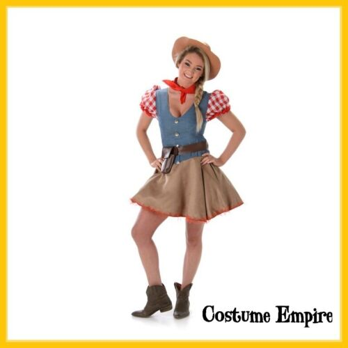 Rodeo Cowgirl Adult Ladies Wild West Costume. Fancy Dress Party Outfit. Size SL