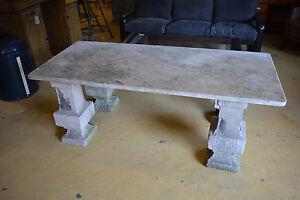 Grosser Gartentisch Baluster Sandstein 17 Jhdt Marmorplatte 180 X