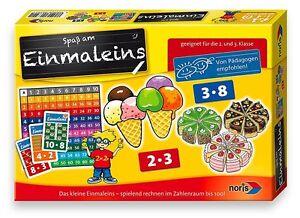 Noris-Spiele-Kinder-Einmaleins-1-plus-2-Klasse-Kinderspiel-Brettspiele-Lernspiel