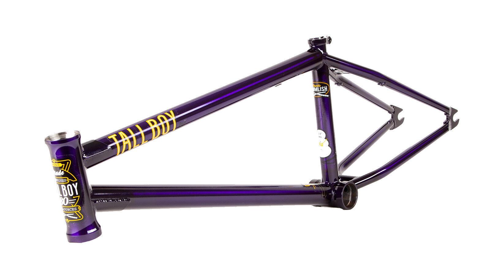 S&M BIKES TALL BOY FRAME TRANS PURPLE 21 CHARLIE CRUMLISH BMX BIKE FUBMX 21