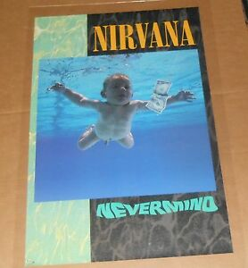 Image Is Loading Nirvana Nevermind Poster Original 1991 Promo 35x23 Kurt