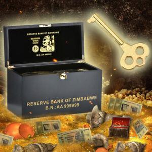 WR-Zimbabwe-Wooden-Box-amp-1000-PCS-Colored-Gold-Z-100-Trillion-Dollars-Banknotes
