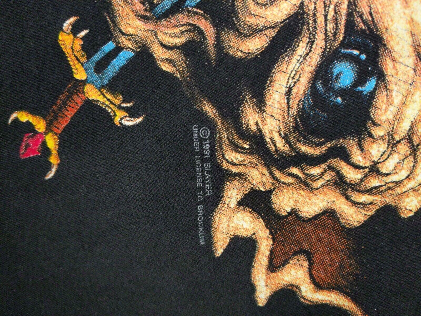 SLAYER XL 1991 Clash of The Titans Vintage T Shir… - image 5