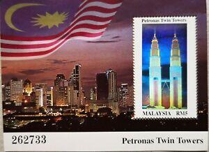 Malaysia-Miniature-Sheet-Petronas-Twin-Towers