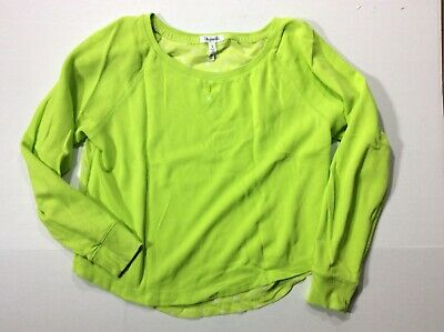 Women's Junior Aeropostale Large Crop Pullover Sweater Neon Green Sheer Back | eBay