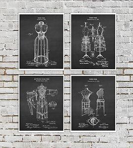 Fashion Dress Form Art Prints Set Of 4 Unframed Fashion Designer Gift Ideas Ebay