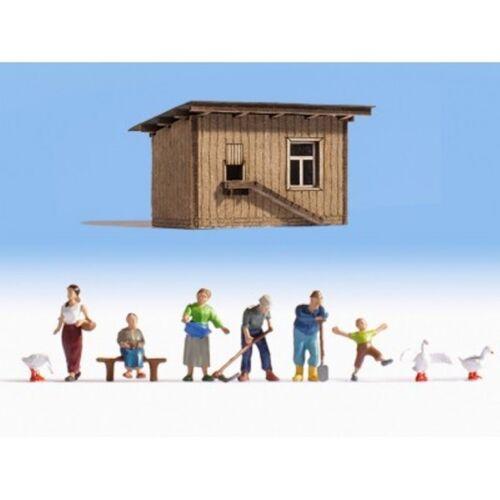 HS   Noch 12540 Figurenset mit Hütte Auf dem Bauernhof Spur   TT