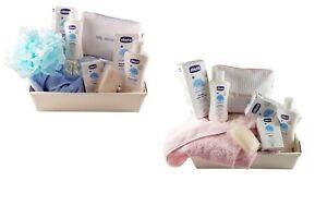 Set Bagno Neonato Chicco.Dettagli Su Set Regalo Chicco Nascita Bambino Rosa Celeste Prodotti Igiene Neonato Cesta