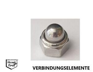 Hutmuttern-Sechskant selbstsichernd DIN 986 EDELSTAHL A2 M4 M5 M6 M8 M10 M12 M16