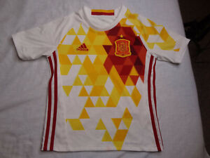 2015 Adidas Spain National Team Soccer Futbol Jersey Kit Youth Kids Small White