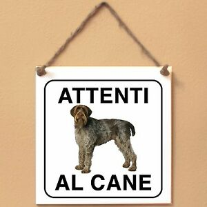 Korthals-1-Attenti-al-cane-Targa-cane-cartello-ceramic-tiles