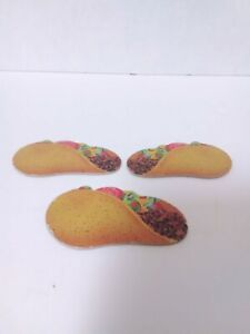 Vintage EAT AT RALPHS Milton Bradley Board Game 3 Taco OEM Replacement Parts