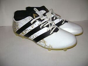 6ba379cd2 adidas ACE 16.3 FG-AG Primemesh Soccer Shoes size 10 White Black ...