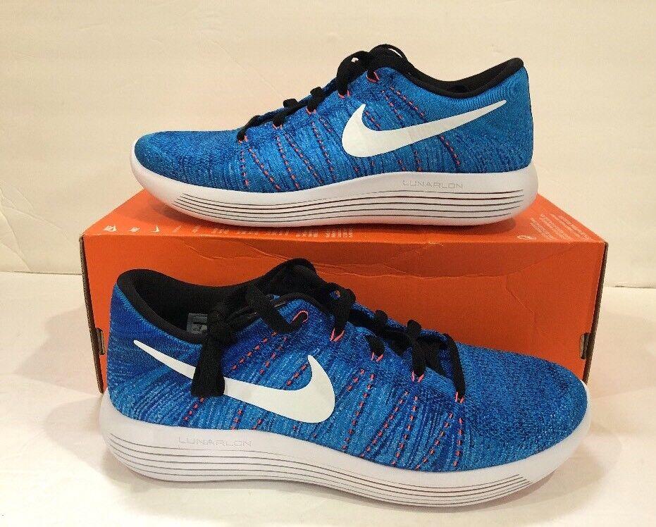 Nike lunarepic basso flyknit racer racer racer blu / bianco 843764 401 uomini scarpe da corsa sz - 9 f96726