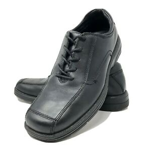 GBX-Agent-Dress-Shoes-Black-Leather-Oxford-Rounded-Square-Toe-Lace-Up-9-5M