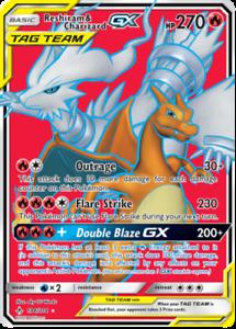 Pokemon-Card-RESHIRAM-amp-CHARIZARD-GX-194-214-Unbroken-Bonds-Holo-Full-Art-NM