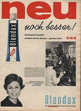 """BLENDAX-Zahnpasta, Werbung / Anzeige 1960, """"neu, noch besser!"""""""