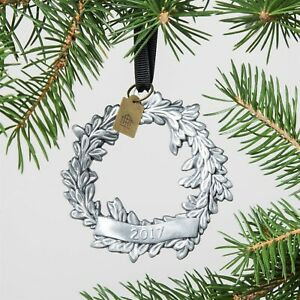 New HEARTH /& HAND Silver Wreath Ornament Metal 2017 Magnolia Joanna Gaines