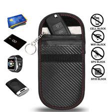 RFID Key Security Box GPS WIFI Protector Faraday Bag for Car keys Keyless Entry Key Fob Jammer Safe Signal Blocking Bag 2 Pack L SAMFOLK Car Key Signal Blocker Pouch Case,