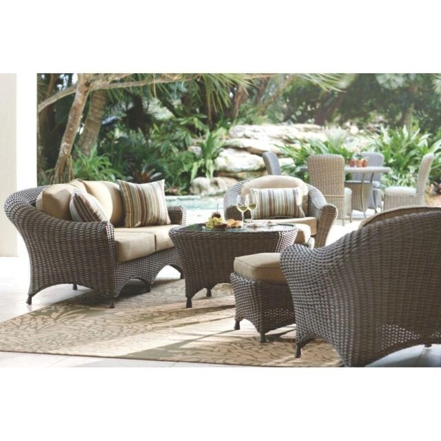 Martha Stewart Living Lake Adela All-Weather Patio Chair Back Cushions