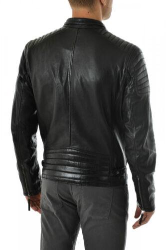 Cuir Livraison En Pour R109 Ns Gratuite Homme Fit Homme Veste Production Slim Véritable ExawgqvBR