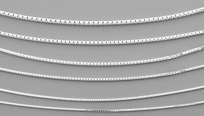 w  Beads Sterling Silver 1.14 MM BOX Chain Free Gift Box # 872