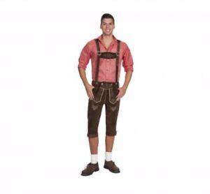 Men s Bavarian Lederhosen - Knee Length - Brown - Oktoberfest ... 190b3cf1e