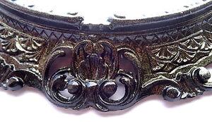 Specchio da parete nero glitter oro effetto ovale cm barocco